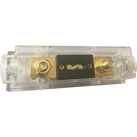 kokiya Car Audio ANL Sicherungshalter Sicherungshalter 0 4 8 Gauge Inline Mit 50A 80A 100A 120A 150A 200A 250A 300A ANL Sicherung 120a