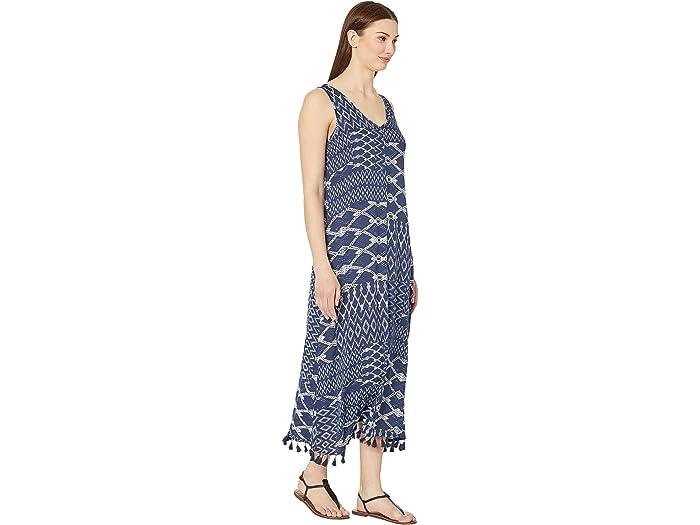 Tribal Maxi Tank Dress W/ Tassels Sky Dresses