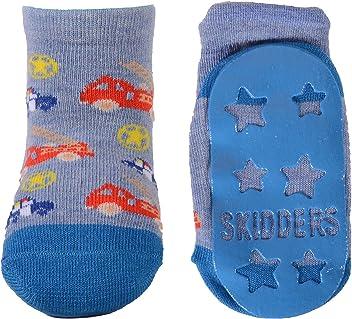 Baseball 2 Pack SKIDDERS Baby Toddler Boy Grip Socks Bundle Firetruck