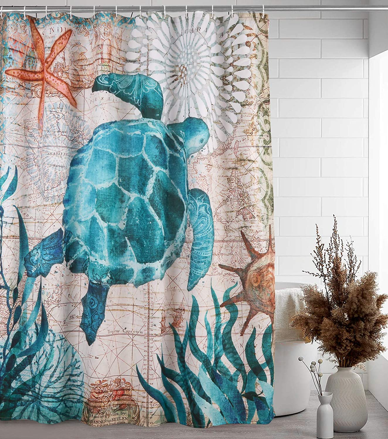 Uphome Fabric Shower Curtain Naut Sets Turtle overseas Sea Sale Special Price