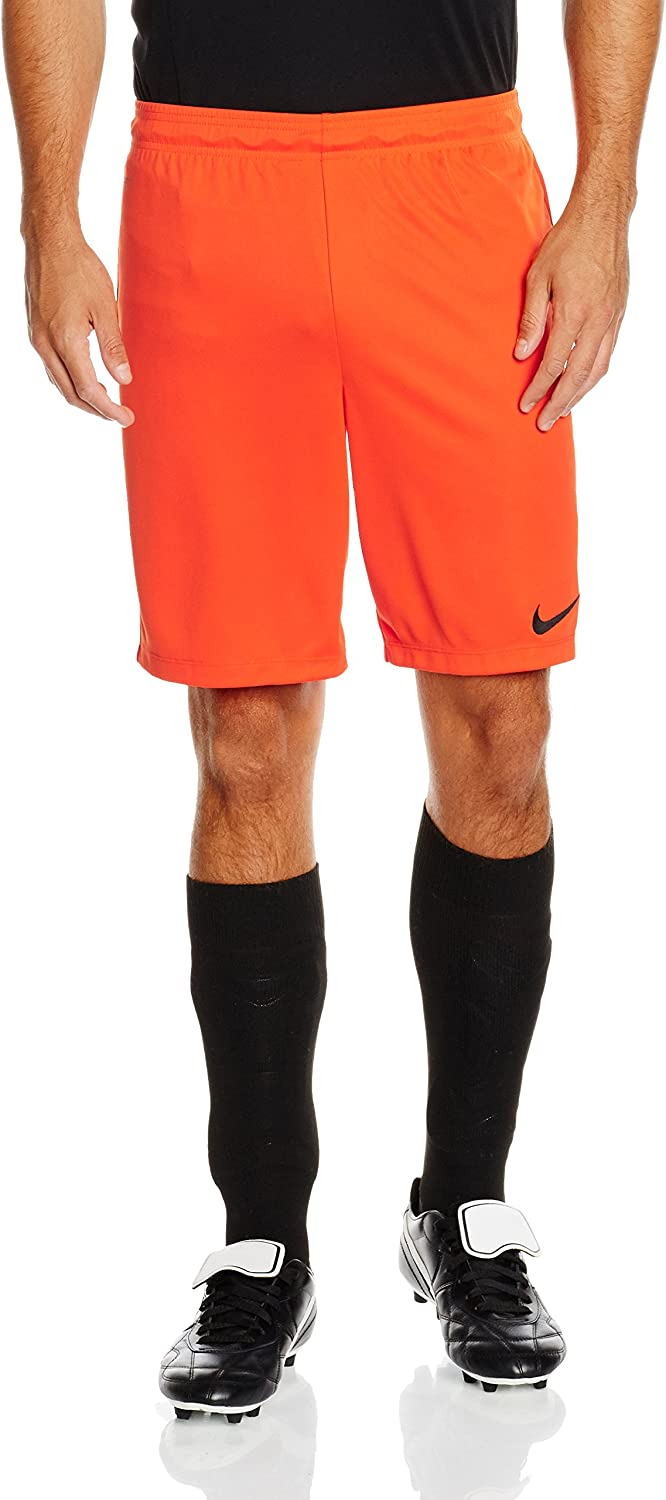 (X-Large, Safety orange Black) - Nike Park II Men's Football Shorts