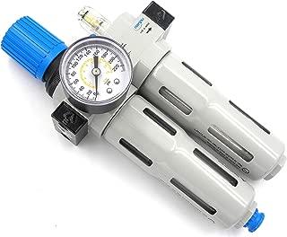 NANPU FRC-1/4 Compressed Air Filter Regulator Lubricator Combo 1/4