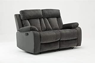 Blackjack Furniture The Elton Collection Modern Reclining Living Room/Den Loveseat, Gray