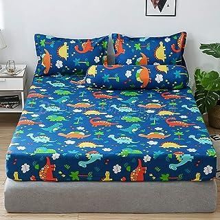 Super Plush Warm Fuzzy Cuddly Fleece Thermal Bedding Fitted Sheets,4PCS:183x200x25cm/1;50x70cm/2;106x35cm/1