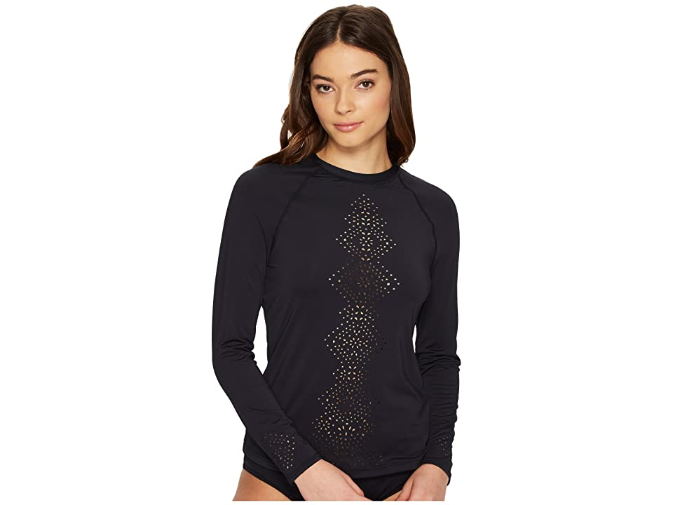 Seafolly Spice Temple Long Sleeve Sunvest (Black) Women