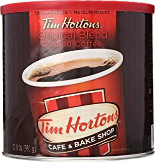 Tim Hortons 100% Arabica Medium Roast Original Blend Ground Coffee, 2 Pound Can