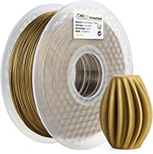 AMOLEN PLA 3D Printer Filament, 1.75mm, Frosted Bronze 1 kg Spool, Includes Sample Marble Filament