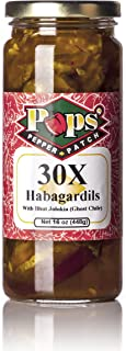 Pops Pepper Patch Spicy Sweet Dill Pickle Chip Ghost Pepper and Carolina Reaper Habagardil (30X)