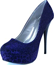 Qupid Women's Platform Party Dress Classic Sky High Heel Stiletto Pump Shoes