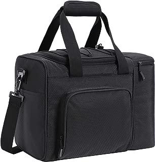 MIER Large Adult Lunch Bag for Men Women Insulated Soft Cooler for Picnic, Kayak, Beach, Grocery, Work, Travel, 2 Decks Cooler, Black