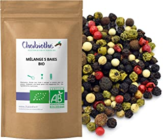 comprar comparacion Cinco Pimienta BIO 100g - 5 bayas mezcla - granos enteros orgánico - bolsa biodegradable -