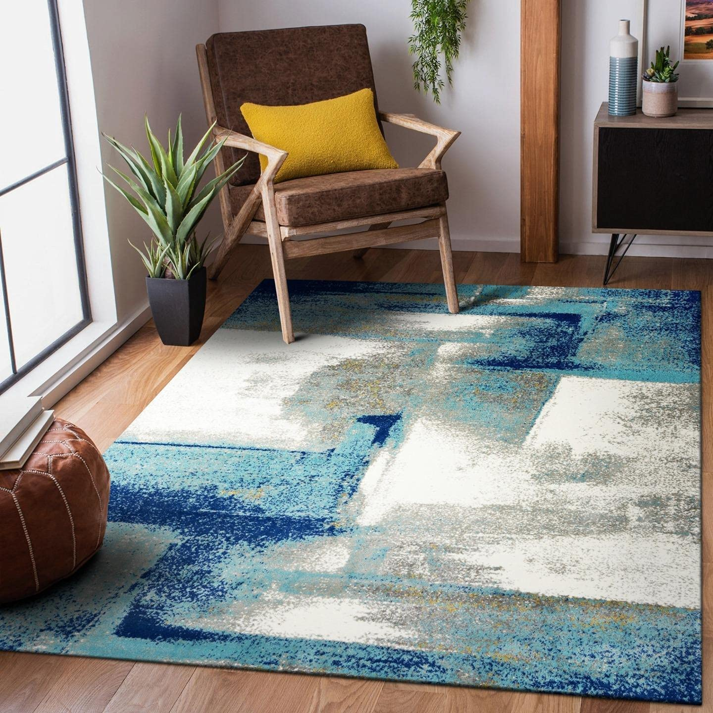 Luxe Weavers Rug - Lagos Abstract Collection – NEW Modern Free shipping 7558