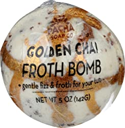 Pacha Soap, Froth Bomb Golden Chai, 5 Ounce