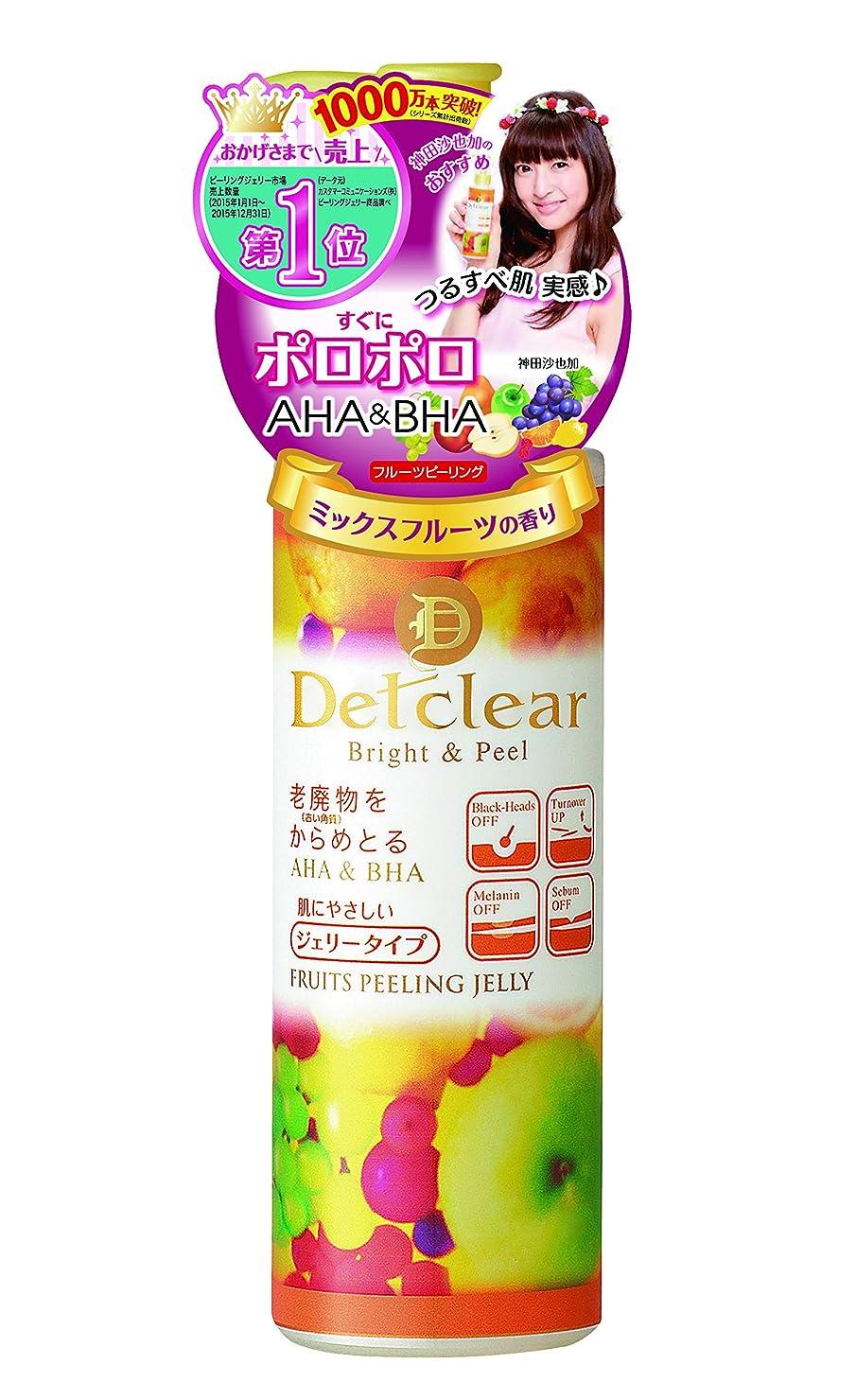 きょうだい故意のネコDETクリア ブライト&ピール ピーリングジェリー <ミックスフルーツの香り> 180mL (日本製)