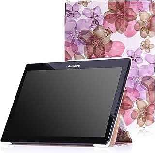 MoKo Lenovo Tab 2 A10 / TAB-X103F Tab 10 Case 3-Fold Stand Smart Cover Case for Lenovo Tab2 A10-70 / TAB-X103F Tab 10 / Tab3 10 Business Tablet, Floral Purple