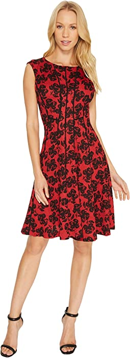 Christin Michaels - Adalene Sleeveless Floral Dress