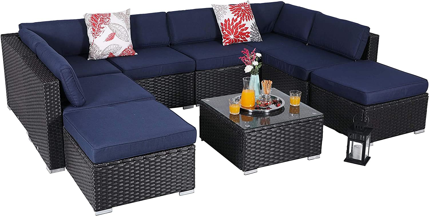 Patio Surprise price Furniture Set Recommended Outdoor Wicker Ratt Low-Back Sectional Sofa