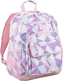Eastsport Tech Backpack, Rose Sand/Crystal Clear Geo Print