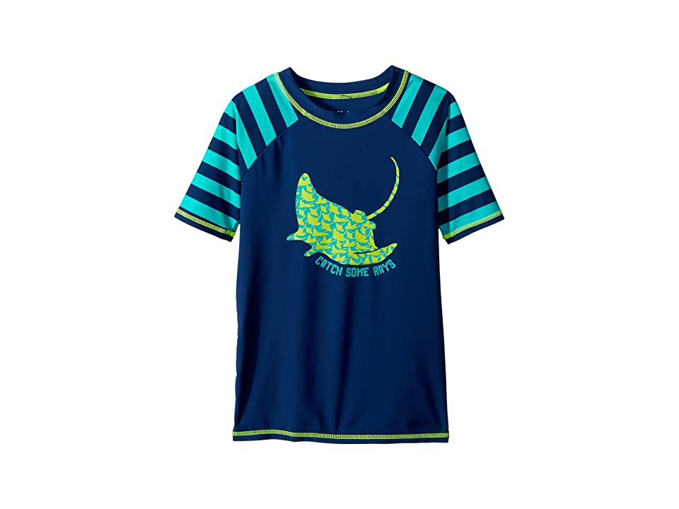 Hatley Kids Friendly Manta Rays Short Sleeve Rashguard (Toddler/Little Kids/Big Kids) (Blue) Boy