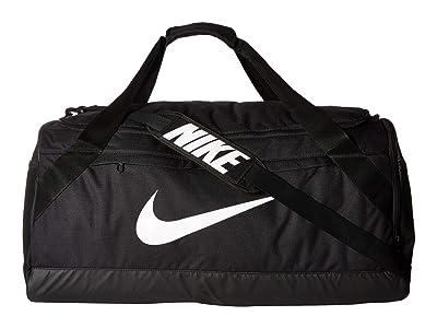 Nike Brasilia Large Duffel Bag (Black/Black/White) Duffel Bags