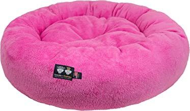 Ultra Plush Deluxe Comfort Pet Dog & Cat Pink Snuggle Bed (Multiple Sizes) - Machine Washable, Made in the USA, Reversible, Durable Soft Fabrics