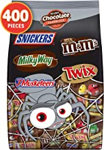 MARS Chocolate Favorites Halloween Candy Bars Variety Mix Bag (TWIX, MILKY WAY, SNICKERS, 3 MUSKETEERS, M&M'S Brands), 126.3 oz 400 Pieces