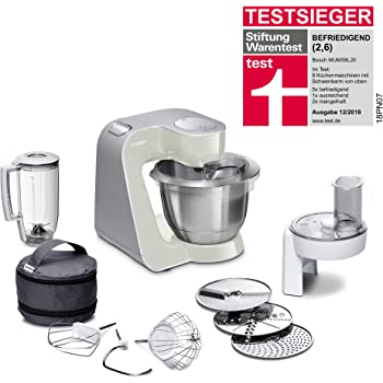 Bosch MUM4880 Robot de cocina con accesorios, 600 W, capacidad de 3.9 litros, color blanco y acero: Amazon.es: Hogar