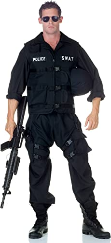 SWAT Team Police Uniform Jumpsuit Costume Adult XX-Large