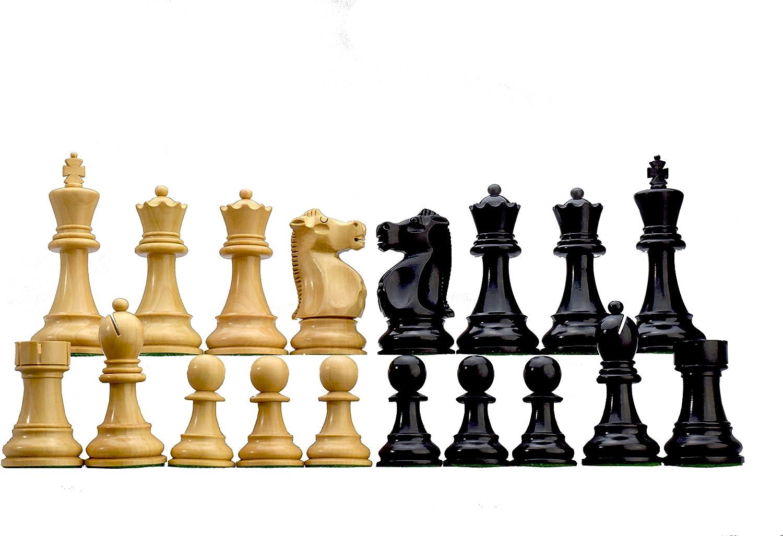 ROOGU Fischer-Spassky Series (Schach WM 1972) - Schachfiguren Set KH 95mm. 2 Damen extra.