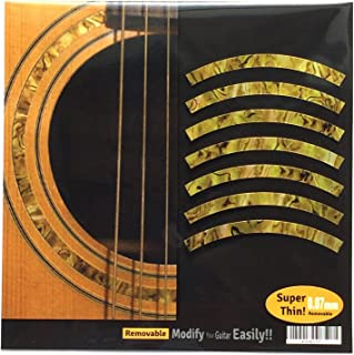 Inlay Sticker Decal Acoustic Guitar Purflinng Sound hole In Abalone Theme - Rosette Strip /OC