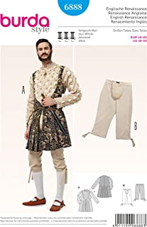 6888 Burda Mens English Renaissance Costume Sewing Pattern Sizes 36-50
