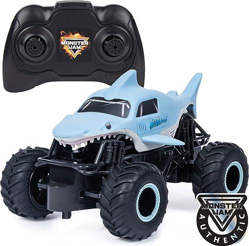 high quality Monster Jam, Official Megalodon Remote outlet online sale Control Monster Truck, high quality 1:24 Scale, 2.4 GHz, for Ages 4 and Up outlet sale