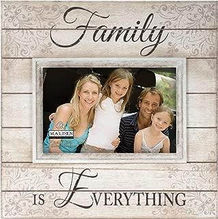 Malden International Designs Sun Washed Words Family Distressed Cream Picture Frame, 4x6, Cream
