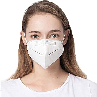 COOLINKO White Filter Face Cover 5-Layers>95% Effectiveness with Earloop Band - Fashion Cotton Mouth Muffle Guard Head Accessory Mask (20 Masks)