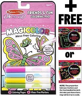 FREE Melissa /& Doug Scratch Art Mini-Pad Bundle 6-Washable Color Stamp Pad 16377