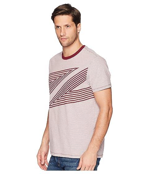 de rododendro abstracto estampado con camiseta Perry Ellis qSU7zz