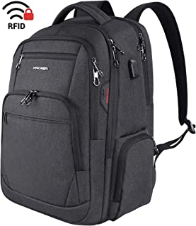 KROSER Travel Laptop Backpack 15.6-17.3 Inch Large Computer Backpack Water-Repellent School Daypack with USB Charging Port & Headphone Interface RFID Pockets for Work/Business/College/Men/Women