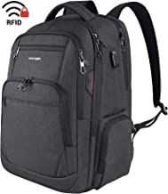 KROSER Travel Laptop Backpack 17.3 Inch Large Computer Backpack Water-Repellent School Daypack with USB Charging Port & He...