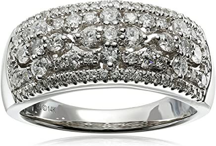 14k White Gold Diamond Anniversary Ring (1cttw, I-J Color, I2 Clarity), Size 7