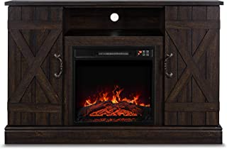 Belleze Veropeso 46 Inch Fireplace Heater Television Stand for TV's Up to 50