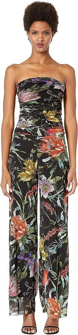 Botanical Floral Tulle Print Jumpsuit