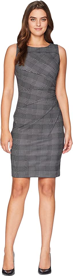 Plaid Starburst Sheath Dress CD8CFB4P