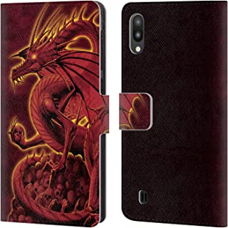 Official Vincent HIE Abolisher Red Dragons 2 Leather Book Wallet Case Cover Compatible for Samsung Galaxy M10 (2019)
