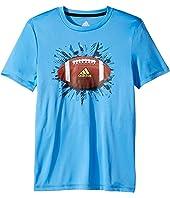 adidas Kids - Short Sleeve Digi Sports Ball Tee (Big Kids)