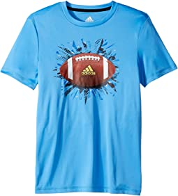 adidas Kids - Short Sleeve Digi Sports Ball Tee (Big Kids)