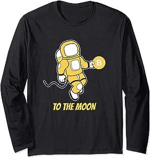Bitcoin BTC Crypto to the Moon Astronaut T-Shirt Long Sleeve T-Shirt