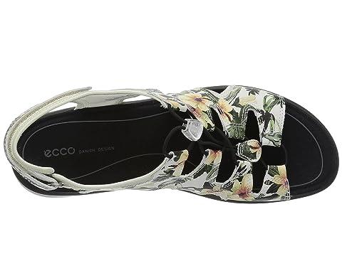 Doux Noir Cuir Nubuckwhite Fleur De En Gris Nubuckwarm Vache Vache Ecco Bascule Sandale Imprimé 5 H81Hqd