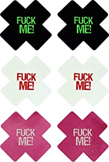 Fuck Me X (3 Pairs) Disposable Satin Nipple Cover Pasties