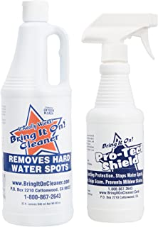 Hard Water Stain Remover Bring It on Cleaner & Sealant, Clean Shower Door, Tile and Grout, Windows, Fiberglass, Chrome, Toilets