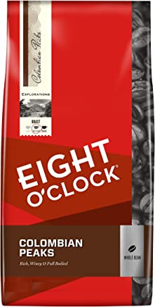 Eight OClock Whole Bean Coffee, 100% Colombian Peaks, 40 Ounce